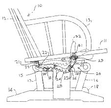 Rocking Chair Dutailier Patent Us6213551 Chair Locking Mechanism Google Patents