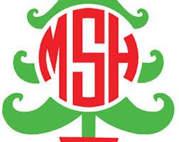 monogram christmas iron on christmas monogram etsy clip library