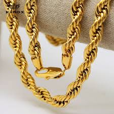 gold chain necklace rope images Mens 6mm 10mm thick 30 quot long solid rope chain 24k yellow golden jpg