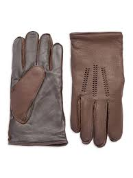 ugg gloves canada sale lyst ugg wool lined touch screen leather gloves in brown for