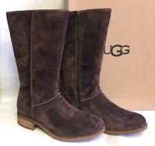 womens ugg roslynn boots ugg australia zip suede mid calf s boots ebay