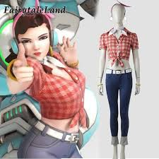 fancy casual ow 1 year anniversary d va costume voice lines d