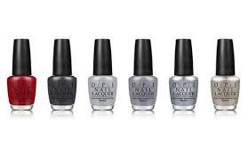 opi u002750 shades of grey u0027 nail polish collection
