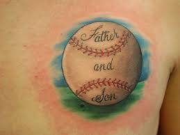 part of this family s culture and this baseball tattoo proves it