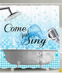 Shower Curtains With Quotes Amazon Com Funny Shower Curtain Sing Along Inspirational Quotes