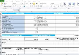 salary receipt template salary slip format in excel free download excel tmp