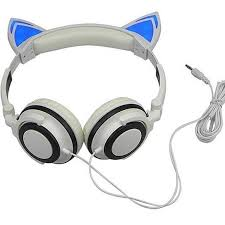 light up cat headphones buy foldable on ear led light up headphones by deal shop now on opensky