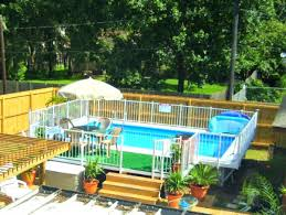 Above Ground Pool Landscaping Ideas Pool Landscaping Ideas For Small Yards In Ground Pool Small Yard