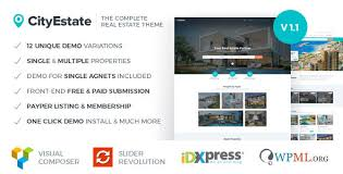 cityestate complete real estate wordpress theme by fortunecreations