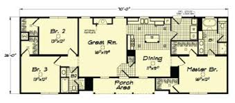 custom ranch floor plans ranch modular home floor plan with integrated front porch i