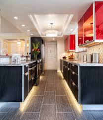 elk lighting inc kitchen contemporary with galley kitchen