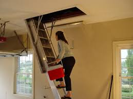 interior easy attic pulldown stairs home stair design for attic
