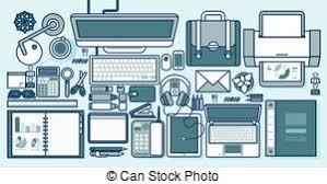fournitures bureau en ligne éléments bureau illustration bureau ensemble bureau clip