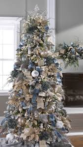 Blue White And Silver Christmas Tree - best 25 blue christmas trees ideas on pinterest xmas tree