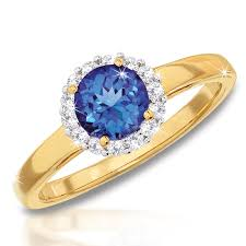 diamond tanzanite rings images Private issue tanzanite diamond 18ct gold ring danbury mint png