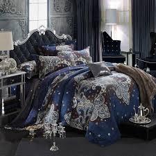 Royal Bedding Sets Royal Blue And White Indian Tribal Pattern Paisley Park Retro