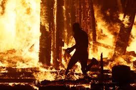 man who ran into u0027burning man u0027 fire dies from injuries new york post