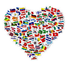 Conutry Flags Graafix Flags Of All Countries In Heart Shape