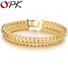 luxury bracelet gold chains images Opk jewellery wholesale price 11mm luxury gold color chain jpg