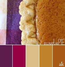 a pie inspired color palette berry pumpkin and a buttery