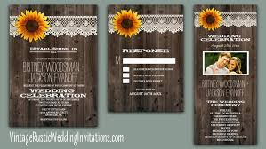 sunflower wedding programs sunflower wedding invitations vintage rustic wedding invitations