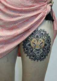 27 best colorful lion tattoos for women images on pinterest