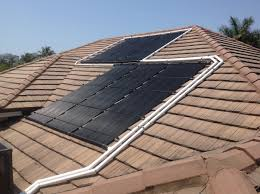 Flat Tile Roof Naples Flat Tile Roof Gets Solar Pool Heater