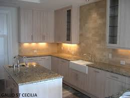 Backsplash With Granite Countertops by In This Picture We Have Desert Sand Travertine On The Backsplash