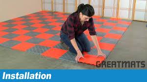 how to install greatmats raised garage floor tiles youtube how to install greatmats raised garage floor tiles