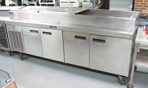 Pizza Prep Tables Pierce Food Service Equipment Co Inc 4 Door Delfield Pizza Prep