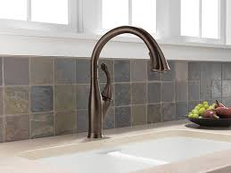 delta kitchen faucets rubbed bronze delta 9192 rb dst single handle pull kitchen faucet
