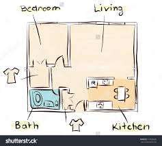 floor plan rendering drawing hand napkin idolza
