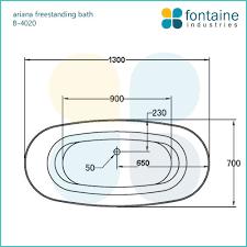 ariana freestanding bath 1300 fontaine industries