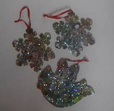 christmas art crafts for kids glitter and paint wood ornaments