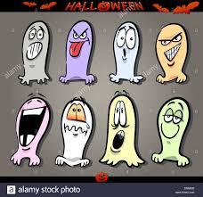 halloween themes cartoon illustration of halloween themes ghosts emotions funny
