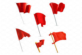 Singapore Flag Icon Red Flags Vector Icons Objects Creative Market