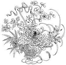 drawings children colour bouquet flowers coloring