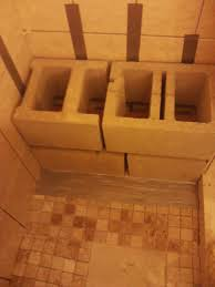 Wooden Shower Stool Inside Shower Benches Wood Or Concrete Block