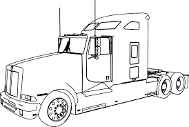 kenworth t600 long trailer truck coloring page wecoloringpage