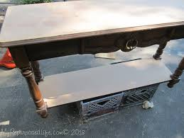 Key Town Sofa Table by Black Sofa Table Easy Makeover My Repurposed Life