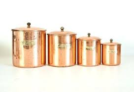 labels for kitchen canisters copper kitchen canisters vintage white and copper kitchen canister