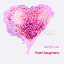 Designs Of Making Greeting Cards For Valentines Romantic Watercolor Card With Heart Decor Design Greeting Cards
