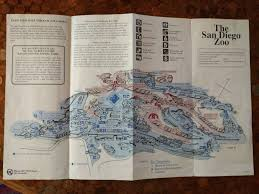 San Diego Zoo Safari Park Map by Vintage San Diego Zoo Maps Yew