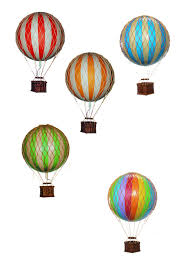 made590 air balloon ornament small blue