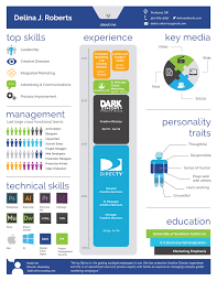 visual resume examples visual cv delinajroberts infographic resume cd p1 copy