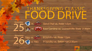 to host food drive at thanksgiving clasic seton