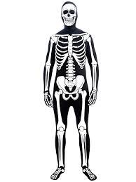 halloween skeleton silhouette skeleton man skin suit costume mens horror costumes