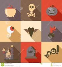 free halloween icon happy halloween icon set in flat design style stock vector image
