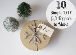 10 simple diy gift toppers to make this babble