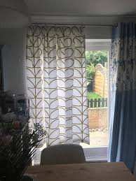 Pencil Pleat Curtains Pencil Pleat Curtains Made In Orla Kiely Olive Green Large